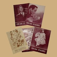 Theater Playbills, 1940's Chicago, Five