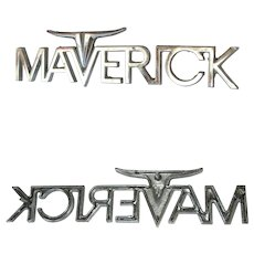 Vintage Metal Ford 1970-1977 Maverick Car Emblem Badge