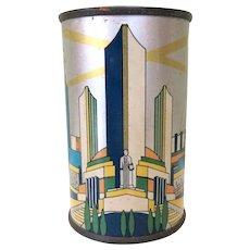 Tin Bank Canco, Chicago World's Fair Century of Progress, 1934 Art Deco