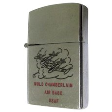 USAF 50's Lighter, Wold Chamberlain, Vintage Korean War, Beta One Hundred