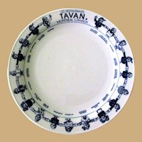 Restaurant Plate, Montreal, Vintage China, Made in Germany