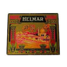 Antique 1910 Helmar Turkish Cigarettes Box, Egyptian Revival