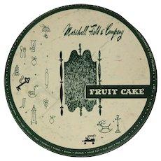 Marshall Field & Company Fruitcake Tin, Vintage 50's