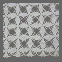 Lace Table Runner, Hand Made Crochet, Vintage Off White Cotton