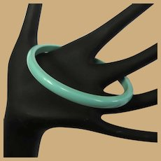 Vintage Lucite Bangle Bracelet, Aqua 60's, Spacer