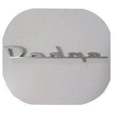 Dodge Car Emblem, Vintage Deco
