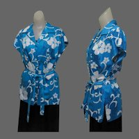 Vintage Hawaiian Shirt / Blouse, 70's Hilo Hattie