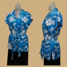 Vintage Hawaiian Shirt / Blouse, 70's Hilo Hattie