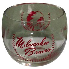 Vintage Milwaukee Braves Wine Glass, Ladies Day SGA, 50's 60's