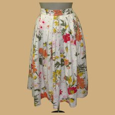 Vintage 50's Skirt, Bobbi Brooks, Cotton Floral, Butterflies