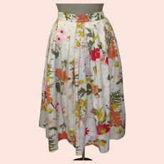 Vintage 50's Skirt, Bobbi Brooks, Cotton Floral, Butterflies