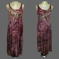 Vintage Salt Dyed Dress, Tie Dyed, Festival Grunge Sun Dress