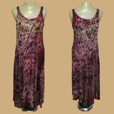 Vintage Salt Dyed Dress, Tie Dyed, Festival Grunge Sun Dress