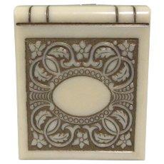 Art Nouveau Celluloid Book Ring Box, Presentation Box, Early 1900's