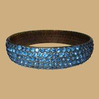 Celluloid Rhinestone Bracelet, 1920's Art Deco Sparkle