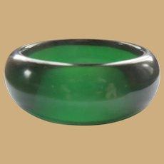 Bakelite Bangle Bracelet, Vintage Lime Juice Prystal, Art Deco