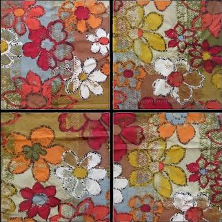 Vintage Mid Century Modern Fabric by Gabrielle Cie, 1960's Retro