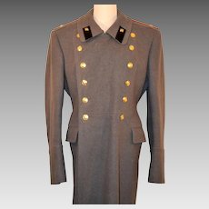 Men's Vintage Russian Military Officers Dress Wool Coat