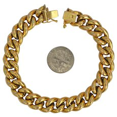 Large Italian 14k Gold Bracelet