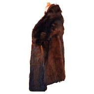Vintage Art Deco Era Mahogany Mink Fur Jacket Coat