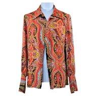 Vintage Psychedelic Hippie Disco  Graff Designer Shirt