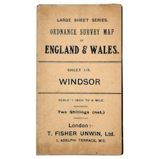 Antique  Large 1912 Windsor England Map