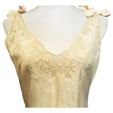 Vintage Silk Embroidered Nightgown 1920's