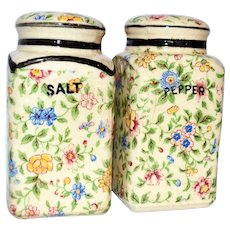 Vintage Large Japanese Japan Floral Salt and Pepper Shakers