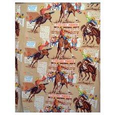 Vintage Cowboy Western Rodeo Tucson Blanket