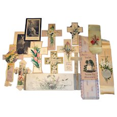 Collectors Lot 14 Easter Religious Spiritual Greeting Cards Early 1900s.