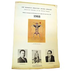 Rare Historical Native American Navajo Ethnographic Calendar Published 1968 Details 1600 to 1900s