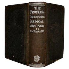 Book Antique Peoples Common Sense Medical Advisor 1895