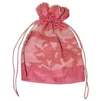 Art Deco Silk Lingerie Bag