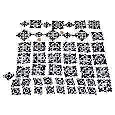 Reserved for Staci.    Victorian Handmade 53 Lace Squares Sewing Dolls Clothing