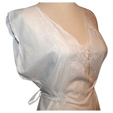 Antique White Edwardian Slip / Dress / Lingerie Embroidered