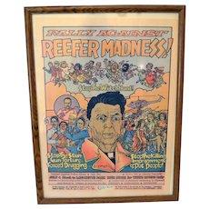 RARE Original Historical Marijuana Poster 1985  Rally Against Reefer Madness
