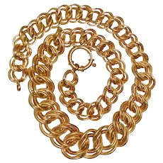 Large  Gold Sterling Chain Necklace