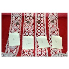 Vintage Handmade Lace Yardage 38 1/2 Yards