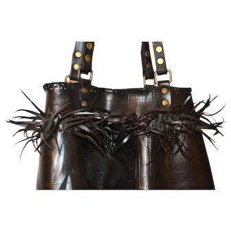 Artisan Recycled Tire Handbag Purse