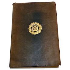 Antique Poetry Poem Leather Bound Book The Golden Treasury  Francis Palgrave 1891