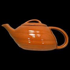 Vintage Bauer Aladdin Copper Colored Teapot Mid Century Modern Streamline  Retro Design California Pottery