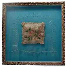 Antique  Early  1800s Needlework Embroidery with Provenance