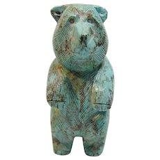 "Exceptional Craftsmanship Vintage Native American Bear ""Fetish"" Statue"