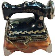 Rare Antique Sewing Machine Trinket box by Limoges France Peint Main