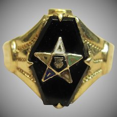 Vintage Eastern Star Ring in 10K Yellow Gold