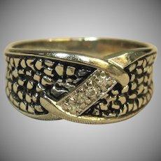 Men's Diamond Ring in 14K White Gold