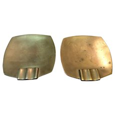Mid Century Singed Bronze Ash Tray Set by Wah Ming Chang