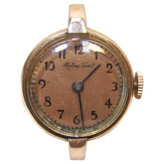 Rare 14K Rose Gold MATHEY TISSOT Swiss Lady's Wind-Up Watch, 17 Jewels, Circa 1927-1928
