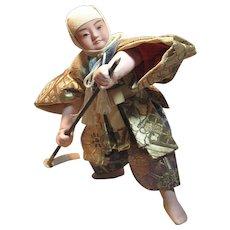 Charming Vintage Japanese Samurai Doll
