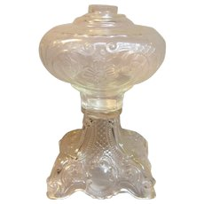 "Wonderful Vintage "" Princess Feather"" Pattern Sewing Oil Lamp"